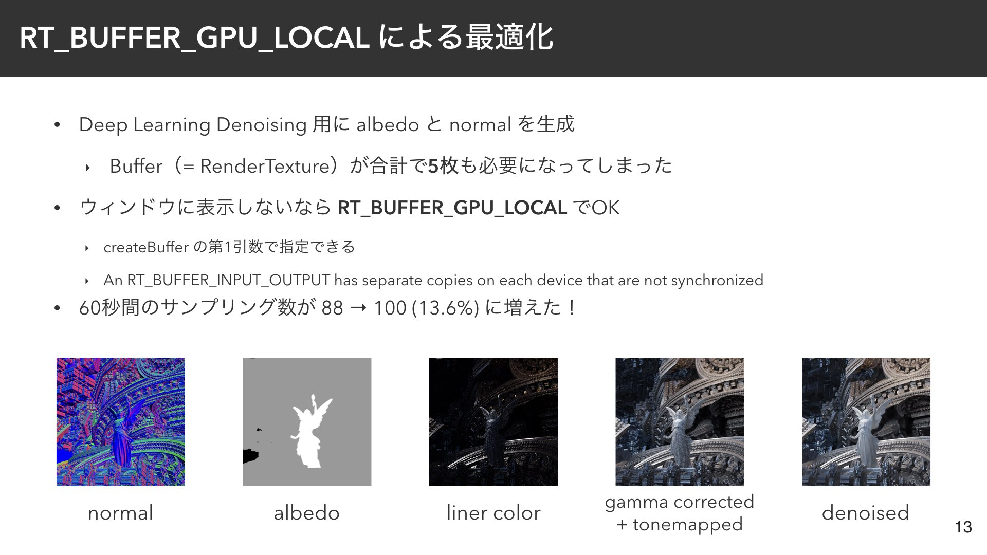 RT_BUFFER_GPU_LOCAL による最適化