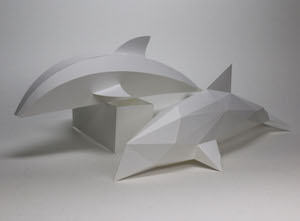 Paper Craft -  dolphin